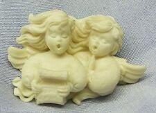 Dos cantante ángel con Partitura - Poliresina - FIGURITAS DE ANGEL
