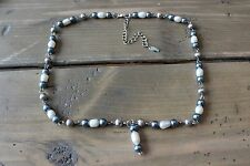 LBVYR Pearl Necklace Adjustable 18 - 21.5 inches