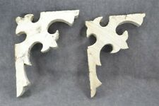 antique corbels bracket architectural chippy paint wood  Victorian 1800 pair 13""
