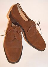 BRUNO MAGLI Suede Size 11 M Brown Mens Shoes Leather Italy Oxford Lace Up Irwin
