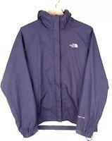 Ladies North Face Purple HyVent Hooded Coat   Waterproof Jacket   Size Large