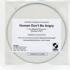 (FV691) Human Don't Be Angry, The Missing Plutonium - DJ CD