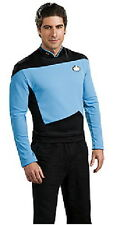 Star Trek The Next Generation Size Large Blue Science Uniform Deluxe Shirt, NEW