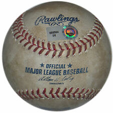 H4NK CONGER SINGLE OFF BRADLEY PEACOCK GAME USED BALL PITCH ASTROS @ ANGELS 2013