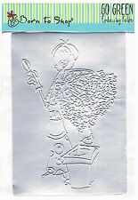 Go green goddess, embossing folder, born to shop 15 x 11cm Docrafts. pruning