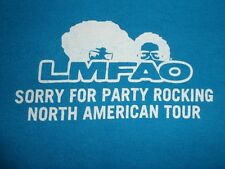 2012 LMFAO Sorry For Party Rocking Tour Crew Shirt, size XL