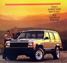 1986 Jeep Cherokee/Wagoneer new vehicle brochure