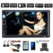7'' 2 Din Car Bluetooth Stereo FM Radio MP5 TFT Touch Screen Player with Camera