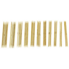 11 Sizes 5'' (12.7cm) Double Point Bamboo Kits Knitting Needles 5 Sets L1S4