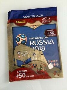 Panini World Cup Russia 2018 Starter Pack  (International Album + 50 Stickers)