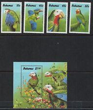 BAHAMAS:1990  Amazon Parrot set +MS SG882-5 +MS886 MNH