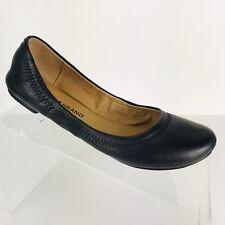 0307e634b471 Lucky Brand Ballet Flats Womens Erin Black Leather Casual Comfort Shoe NEW