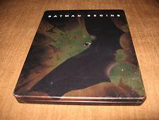 BATMAN BEGINS Steelbook BluRay Read Description C Bale, Nolan K Holmes Free Ship