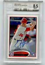 2012 TOPPS #661 BRYCE HARPER AUTOGRAPH ROOKIE CARD (RC), NATIONALS, BGS 8.5
