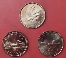Brilliant Uncirculated 2006 Canada Lucky & No Logo & Mint Logo 1 Dollars