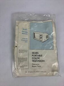 Vintage Sears Portable Color Television TV Model 562.40070050 OPERATING MANUAL
