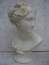 Büste Elisa Kopf Figur Frau Stuckgips Skulptur Dekoration Säule Statue Crem 2016