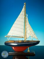 DECORATIVE MODEL SAILING YACHT BY HOUSE OF VALENTINAS