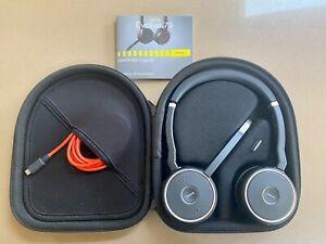 Jabra Evolve 75 MS Stereo Wireless Headset - Black