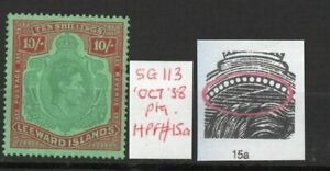 LEEWARD ISLANDS SG113 Oct. 38 Ptg. 10/-  lightly hinged condition..