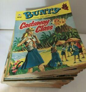 32 x Vintage Bunty Comic Picture Story Library Bundle