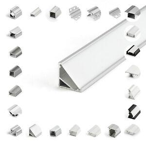 Profil Alu für LED Beleuchtung 1m 2m Schiene Profile Abdeckung Montagezubehör