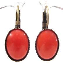 SoHo® Ohrhänger Ohrringe true vintage bohemia glas coral orange 1960´s handmade