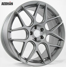 18x8 AodHan LS002 Rims 5X120 +35 Gun Metal Wheels Fits BMW X5 3 Series 535 X3