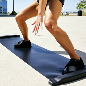 Exercise Slide Board Mat 6-ft w/ Booties & Carrying Bag Lateral Training Workout