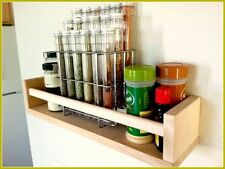 IKEA BEKVAM Solid Birch Wood Wooden Spice Rack Wall Jar Bottle Can Tin Holder