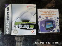 ESPN Final Round Golf 2002 (Gameboy Advance) Box & Manual Only... NO GAME