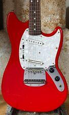 1999 Fender Japan 65 Vintage Reissue Mustang Dakota Red guitar USA pickups - CIJ