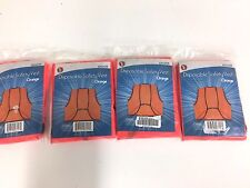Set of 4 Safety Vest - Disposable, Orange, One Size Fits Most EP122OR