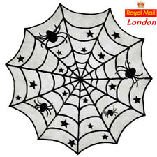 Halloween 102cm Round Spider Web Lace Tablecloth Table Cover Window Curtain Deco