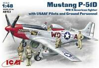 ICM 48153 P-51D with USAAF Pilots and Ground 1/48 plastic model  kit 205 mm