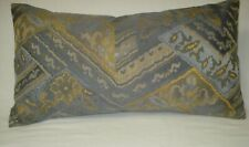 """Gray Vintage Woven Fabric Lumbar Decorative Accent Throw Pillow Cover 12""""x19"""""""