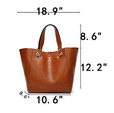 Women's Handbag Shoulder Bags Tote Purse Brown Leather Messenger Beach Satchel