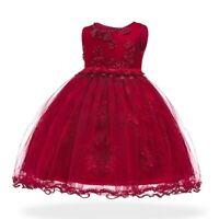Flower girl dresses Tulle wedding formal kid princess baby bridesmaid dress Gown