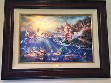 Framed Thomas Kinkade Little Mermaid Jewel Edition LE JE 95 18x27 Disney Limited