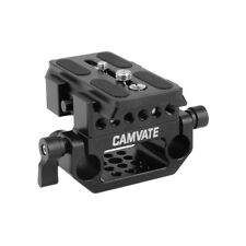 CAMVATE Standard Manfrotto QR Baseplate Assembly With 15mm Dual Rod Clamp