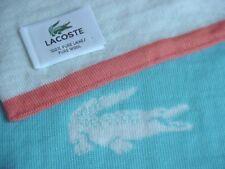 "Men's LACOSTE Logo Knit 100% Pure Wool Scarf Turquoise/Orange 56"" x 7"""