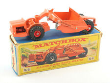 Matchbox Lesney King-Size K-6 Allis-Chalmers Earth Scraper 1961 * BOXED *