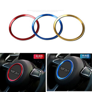 Car Steering Wheel Sticker Circle Aluminum Body Emblem Fit For Audi A3 A4 A6