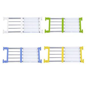 Adjustable Cupboard Space Saving Closet Tension Shelf Separator Storage Rack