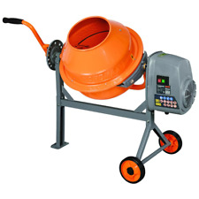 Concrete Mixer Compact Portable Electric Rugged Low Profile Height 16 Cu Ft