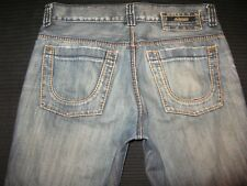 Serfontaine Jeans Mens Straight Leg Distressed Wash USA Made Sz 34 X 28