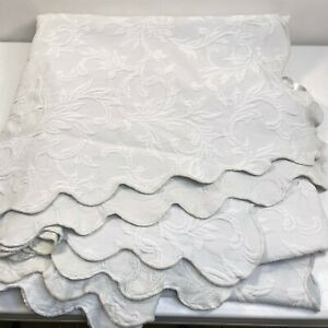 jcpenney coverlet twin gray blue matelasse vine floral cotton modern 80x70