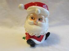 "Vintage Christmas Parma AAI Ceramic Santa Claus Planter Head Vase 7"" Japan 1950s"