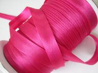 10 Meter SCHRÄGBAND Magenta Pink Satin Borte 1,5cm Spitze Elegante BA 062