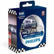 Kit Coppia Lampadine Lampada Auto Philips H4 55W Racing Vision +150% 12342RVS2